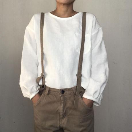 リネンのふんわり長袖