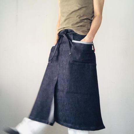 ふんわりポケットのサロンエプロン  ロング