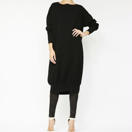 faced knit dress