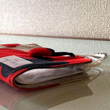 抗ウイルス機能繊維使用 北欧風柄 一時置きマスクケース