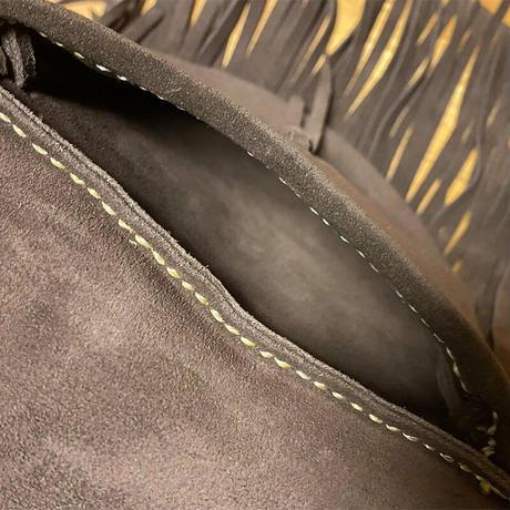 【Thin.T】スムースレザーベルトポーチ/手縫い/一点もの