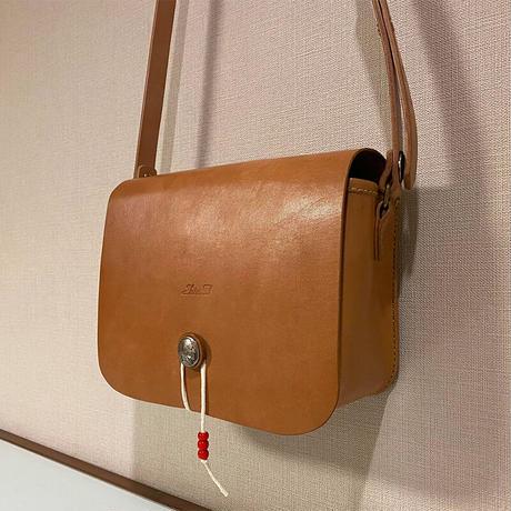 【Thin.T】レザーショルダーバッグ/手縫い/一点もの