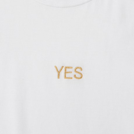 "Charity : ""Yes/No"" Embroidered T-shirt(Unisex design)"