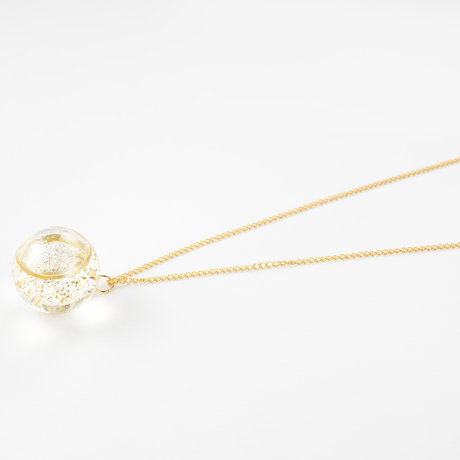 Charity : 20mm Glass dome crystal Necklace (Champagne Series )