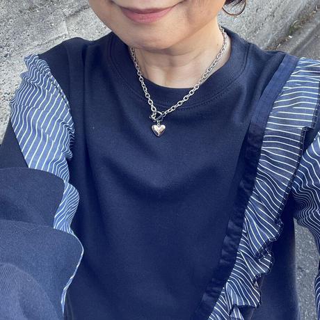 【ステンレス】ぷっくりハートのネックレス