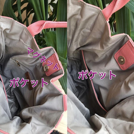 2wayストライプバッグ(ピンクのみ)