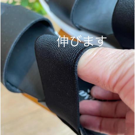 厚底カジュアルサンダル(黒)