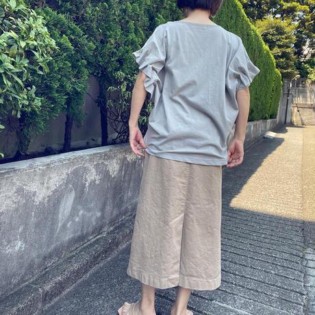 お袖波打ちトップス(ワンカラー)