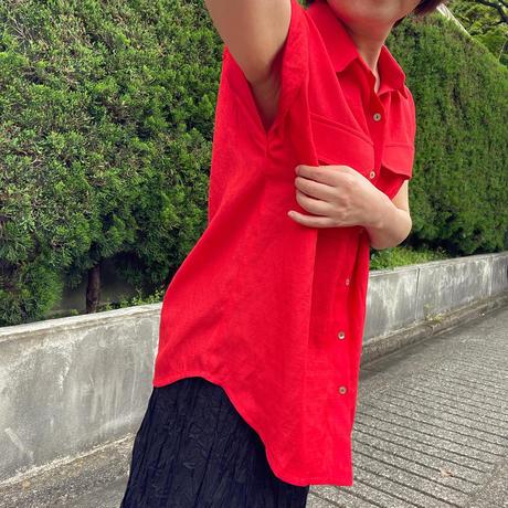 胸ポケットトップス(赤)