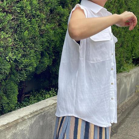 胸ポケットトップス(白)