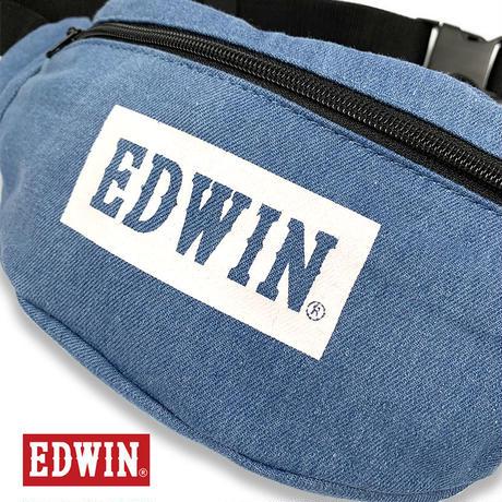EDWIN エドウイン ボックスロゴ ライトデニム ウエスト ポーチ