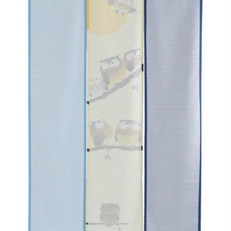 【和風のれん】三つ割れのれん 七福ふくろう 約幅85cm×長さ150cm 09-051