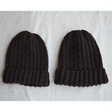 模様のある シンプルなニット帽  セット