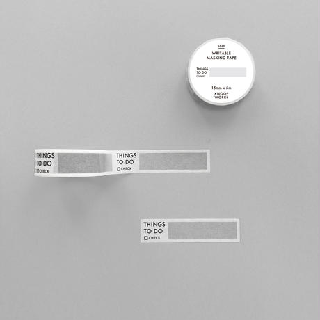003_THINGS TO DO mini マスキングテープ|やること