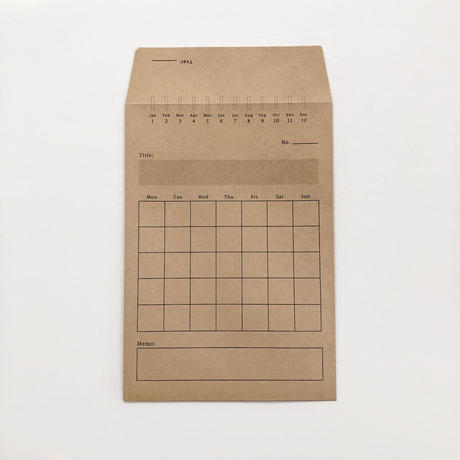 MONTHLY ENVELOPE(12枚set)