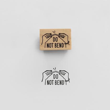 〈DO NOT BEND〉スタンプ|折曲厳禁