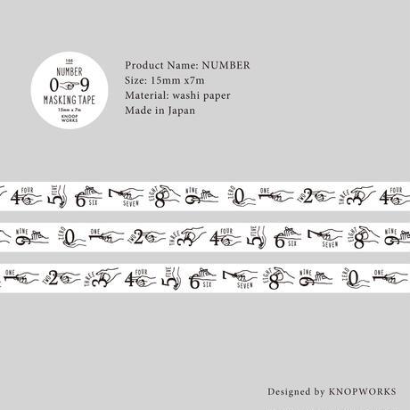 105_NUMBERマスキングテープ 数字