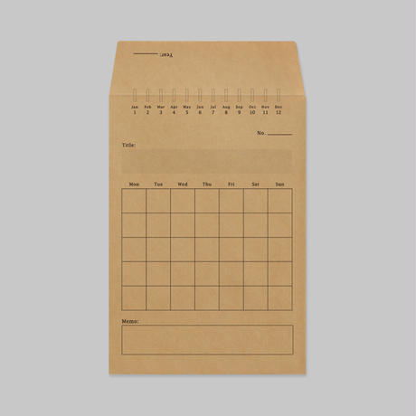 MONTHLY ENVELOPE(5枚set)