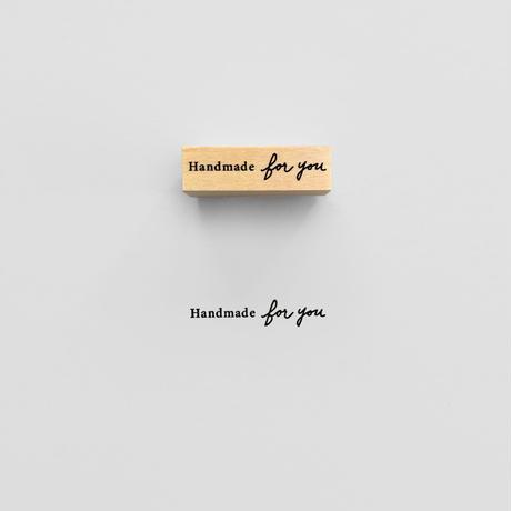 〈MESSAGE〉Handmade for youスタンプ|ハンドメイド