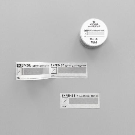 004_EXPENSEマスキングテープ|支出管理