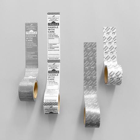 103/115_FRAGILE マスキングテープ(ホワイト/グレー)