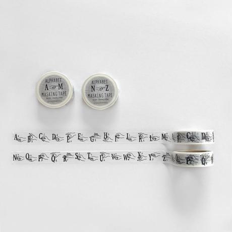ALPHABET (A-M,N-Z) マスキングテープ2本セット