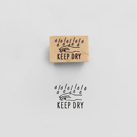 〈KEEP DRY〉スタンプ|水濡厳禁