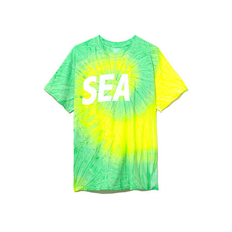WIND AND SEA / T-SHIRT TIEDYE (Lime)