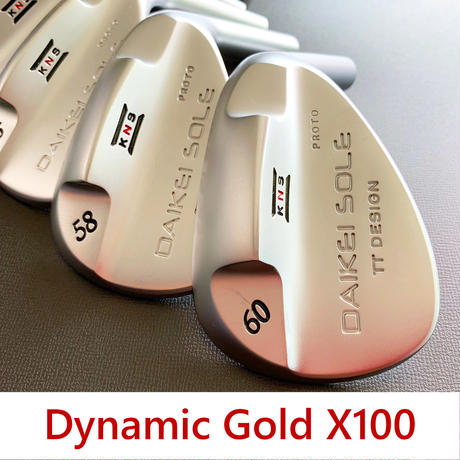 台形ソールウェッジ Dynamic Gold X100