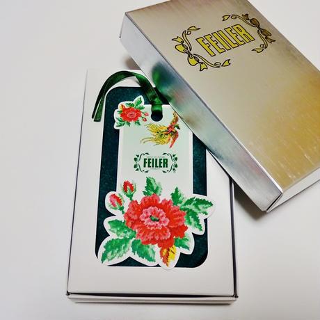 フェイラー アイーダ タオルハンカチ ホワイト&ピンク25cm(ブランドボックス付き)【御結婚御祝・内祝・新築御祝・還暦御祝・御礼・寿・ギフト包装可能】