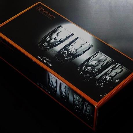 Nachtmann(ナハトマン) スフィア ロングタンブラー 4本セット【御結婚御祝・内祝・新築御祝・還暦御祝・御礼・寿・ギフト包装可能】
