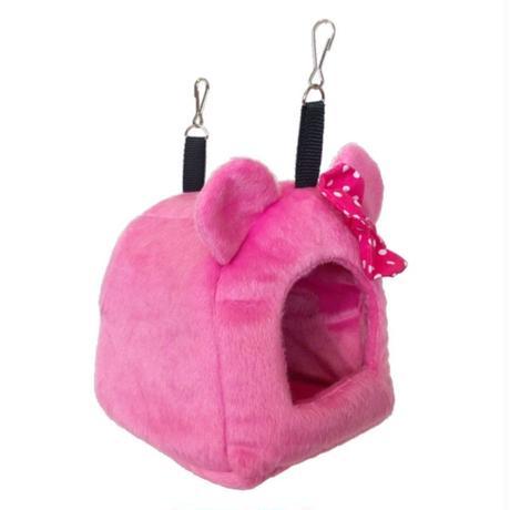 🎀耳付きハウス ピンク水玉リボン🎀 (Mサイズ)