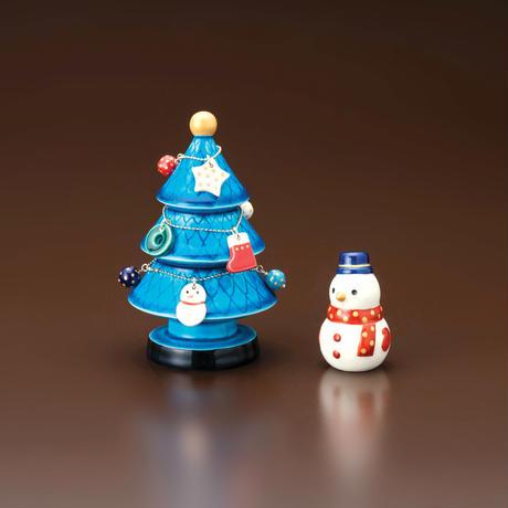 青釉オーナメント  クリスマスツリー・雪ダルマセット 化粧箱入