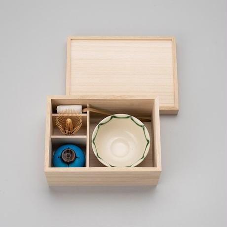 特製日々茶箱(豆皿付)  木箱
