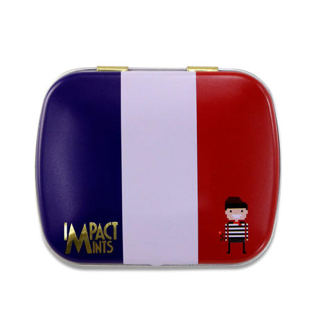 インパクトミント 国旗柄フランス(ストロベリー)