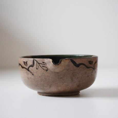 【季節のうつわ】絵瀬戸桐文片口鉢 Seto Katakuchi Bowl with Paulownias Design 19th C