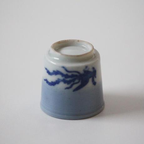 【千代久】印判鳳凰桐文猪口(その4) Inban Polychrome Cup with Printed Design of Phoenix and Paulownia 19thー20th C