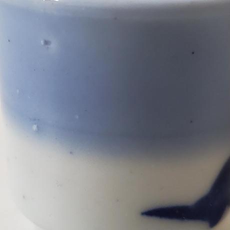 【千代久】印判鳳凰桐文猪口(その3) Inban Polychrome Cup with Printed Design of Phoenix and Paulownia 19thー20th C