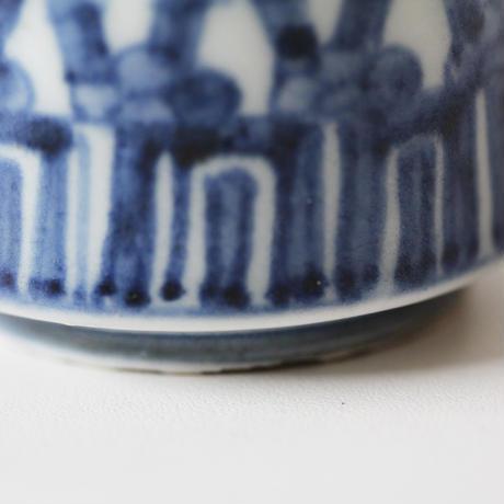【千代久】古伊万里染付竹梅文のぞき猪口(その4)Imari Blue and White Cup with Design of Bamboos and Plum Blossoms 18th C