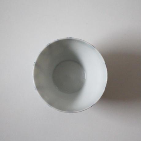 【千代久】染付螺旋文猪口(その1)Blue and White Cup with Spiral Pattern 19thー20th C