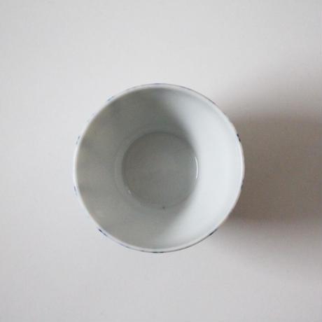 【千代久】染付螺旋文猪口(その2)Blue and White Cup with Spiral Pattern 19thー20th C