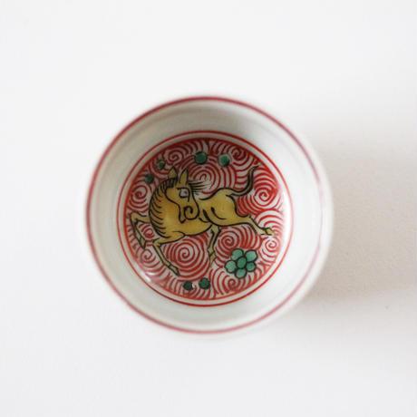 【千代久】九谷色絵天馬文猪口(その1) Kutani Enameled Cup with Heavenly Horses Design 19thー20th C