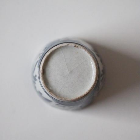 【季節のうつわ】古伊万里染付竹文小猪口(その2)4.5cm Imari Blue and White Small Cup with Bamboo Design 18th C