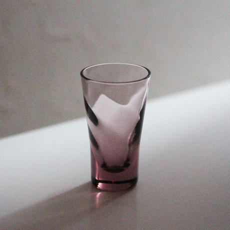 【季節のうつわ】パープルツイストショットグラス Vintage Purple Twisted Shot Glass 20th C