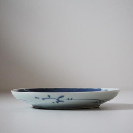 【季節のうつわ】古伊万里染付竹林人物文皿 Imari Blue and White Dish with Design of Scholar in Bamboo Grove 18th-19th C