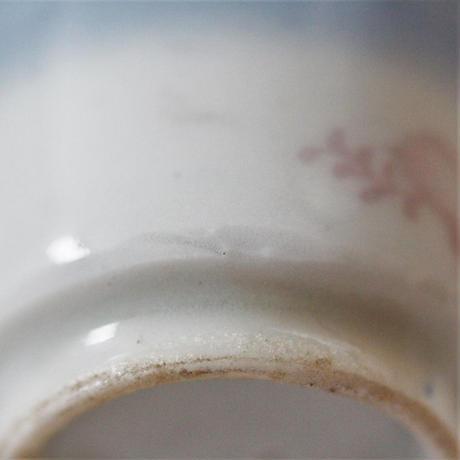 【千代久】印判鳳凰桐文猪口(その5) Inban Polychrome Cup with Printed Design of Phoenix and Paulownia 19thー20th C