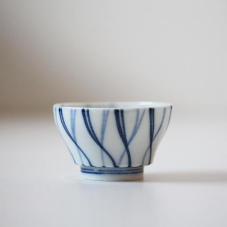 【千代久】染付螺旋文猪口(その6)Blue and White Cup with Spiral Pattern  19thー20th C