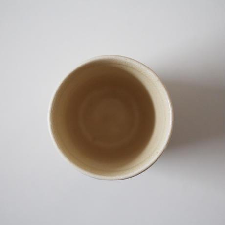 【季節のうつわ】粟田焼大津絵筒猪口「藤娘」(その2)Awata Polychrome Cup with Otsue Design 20th C