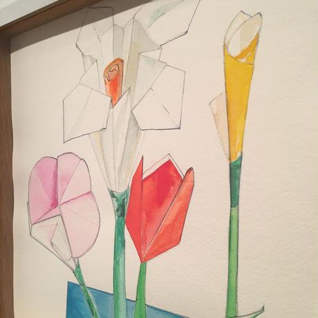 長谷川冬香「flower(折り紙1)」