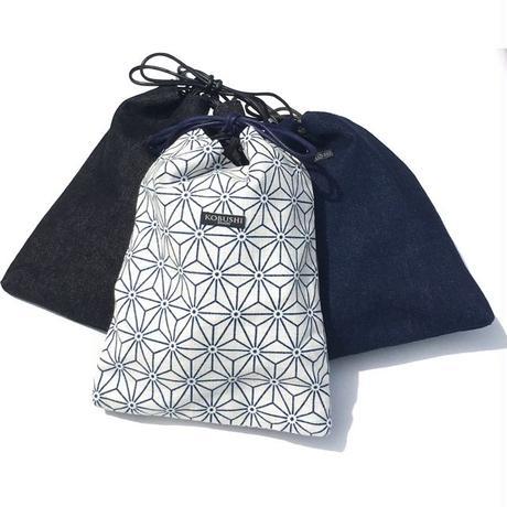 ASAMON・DENIM SHINGEN POUCH /麻紋・デニム 信玄袋(アサモン・デニム シンゲンブクロ) /KOBUSHI BRAND/コブシブランド(全3種)